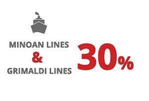 Ferries naar Italië - Minoan Lines 2018 – Combinatie Grimaldi Lines-Minoan Lines